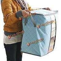 Сумка ящик для хранения одежды организатор одежды нижнее белье одеяло бамбук уголь Нетканые