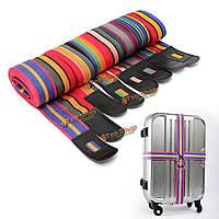 Регулируемая багаж чемодан крест ремешок путешествия багажная сумка ремень металлические застежки