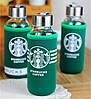 Стеклянная бутылка STARBUCKS в термочехле