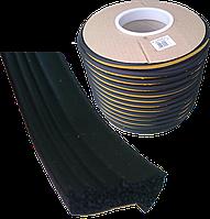 Ущільнювач -E-профіль 13,5*6,4 мм (чорний), фото 1