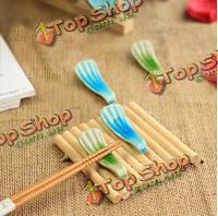 2шт Цзиндэчжэнь керамические палочки для еды держатель ложка стойки
