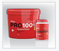 Протеин PRO 100%+ Whey Concentrated + аргинин