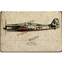 20x30см мировой войны битва самолет марочные военный металлический лист рисунок декора стены искусства таблички знаки
