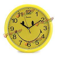 30.5см большая улыбка лицо немой настенные часы творческий декор висит часы настенные украшения дома