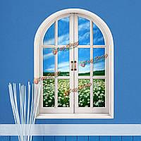 Ромашка 3d искусственный Вид из окна вол наклейки на стены цветок наклейки море комната стены дома подарок декора