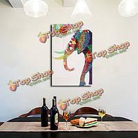 Мультфильм слон картина бескаркасных современной абстрактной холст маслом украшения стены картины