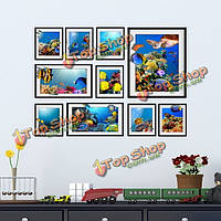 Паг съемные фотографии 3d стены стикер с рамкой творческий альбом стикер стены украшения дома