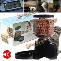 5.5л автомат еды часть фидера любимчика кота собаки тарелки шара дисплей Диспенсер LCD