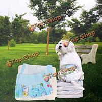 Чистый удобный любимчика собаки собачьего кота одноразовые подгузники подгузник колодки 10шт / 1 пакет