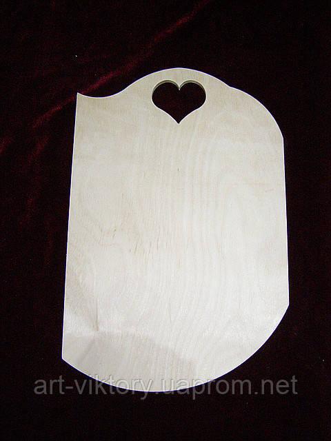 Досочка сердечко (20 х 31 см)