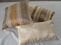 Комплект подушек оливка с золотом коронки, 3шт, фото 1