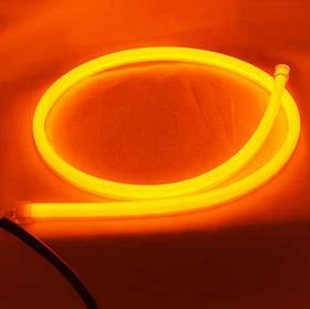 Гибкие указатели поворота в силиконе SL LED, гибкая лента в фары 85 см. комплект, 12V, Жёлтый