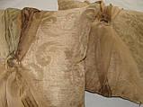 Комплект подушек 2шт,40х40  беж с бантиком, фото 3