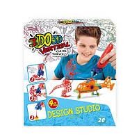 Набор для детского творчества с 3D-маркером - МАЛЬЧИКИ (3D-маркер – 4 шт, шаблон, аксессуары)