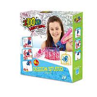 Набор для детского творчества с 3D-маркером - ДЕВОЧКИ (3D-маркер - 4шт, шаблон, аксессуары)