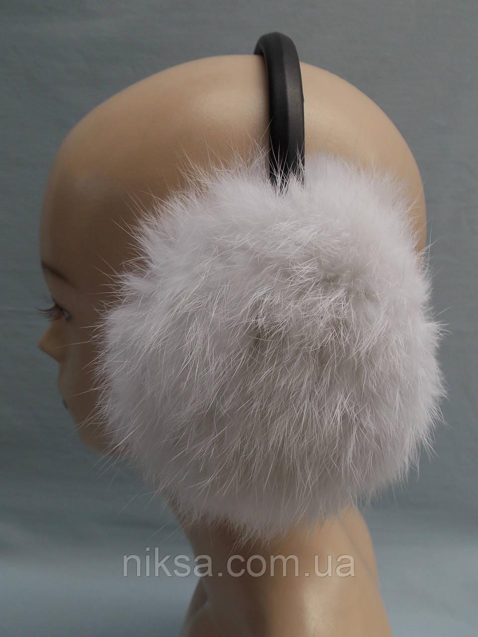 Женские меховые наушники из натурального меха кролика - Интернет-магазин