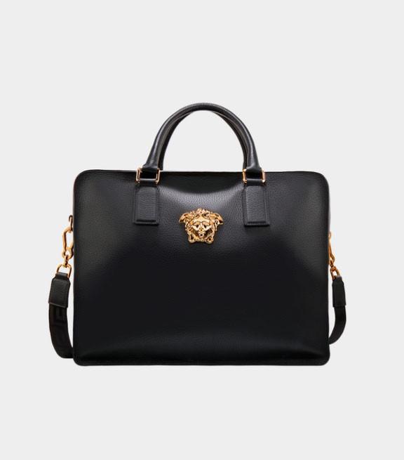 Мужской портфель из натуральной кожи Versace Palazzo