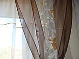 Комплект гардин  Прованс Розы коричневый, фото 2