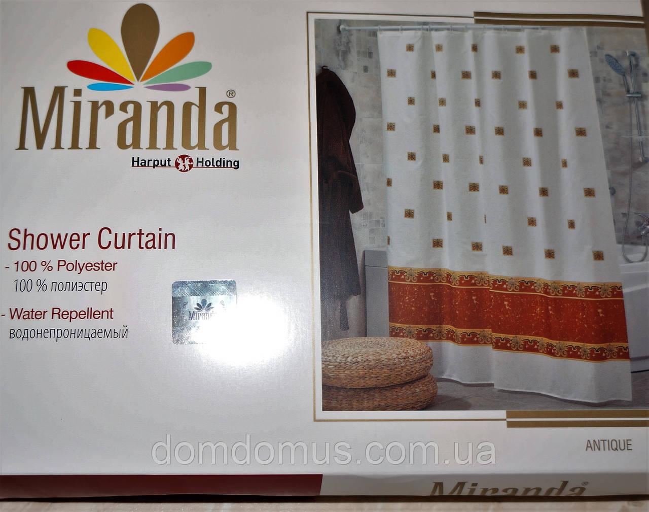 Штора для ванной комнаты Miranda 180*200, Турция, 1820-5