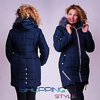 Женская зимняя куртка, плащевка на синтепоне 300