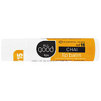 Elemental Herbs, All Good Lips, Lip Balm, SPF 15, Chai, 4.25 g