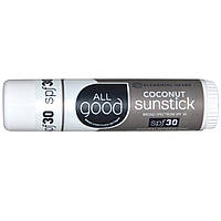 Elemental Herbs, Sunstick, Zinc Sunscreen, SPF 30, Coconut, .6 oz