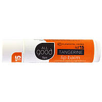 Elemental Herbs, All Good Lips, Lip Balm, SPF 12, Tangerine, 4.25 g