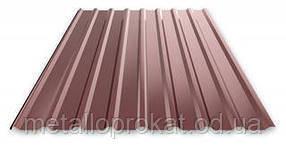 Профнастил оц. 0.4мм.ПС-10 коричневый (1.2м х 2.0м)