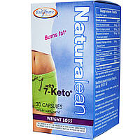 7-Кето, потеря веса, Naturalean, with 7-Keto, Enzymatic Therapy, 30 капсул