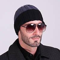 Очень стильная осенне-зимняя шапка. Унисекс. Качественная шапка. Удобная и практичная. Купить. Код: КДН611