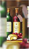 """Схема для вышивки бисером на подрамнике (холст) """"Натюрморт. Вино с сыром"""""""