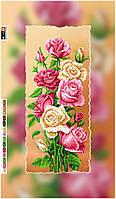 """Схема для вышивки бисером на подрамнике (холст) """"Прекрасные розы-1"""""""