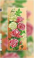"""Схема для вышивки бисером на подрамнике (холст) """"Прекрасные розы-2"""""""