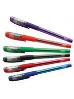 Ручка 501P шариковая с резинкой Черная, Зеленая, Красная масляная уп24