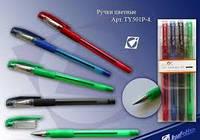 Ручка 501P-4 Набор масляная, шариковая 4 цвета уп36