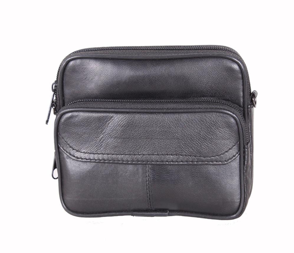 Мужская кожаная сумка 303709 черная