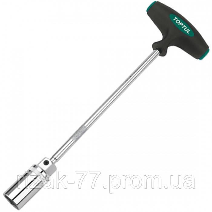 Т-обр магнитный свечной ключ 16мм L-350мм TOPTUL CTFB1635 ТОРТUL