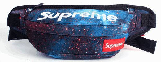 Интересная спортивная сумка на пояс Supreme 128, космос, фото 2