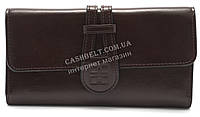 Стильный удобный женский кошелек с блестящей кожи PU SAARALYNN art. 1025A  коричневого цвета