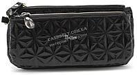 Стильный оригинальный женский блестящий кошелек барсетка BALYA art. 634-5 черный