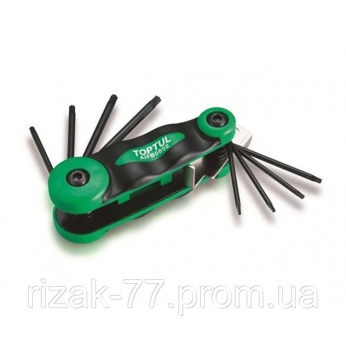 Набор складной ключей TORX: T9-T40 TOPTUL AIFB0801 ТОРТUL