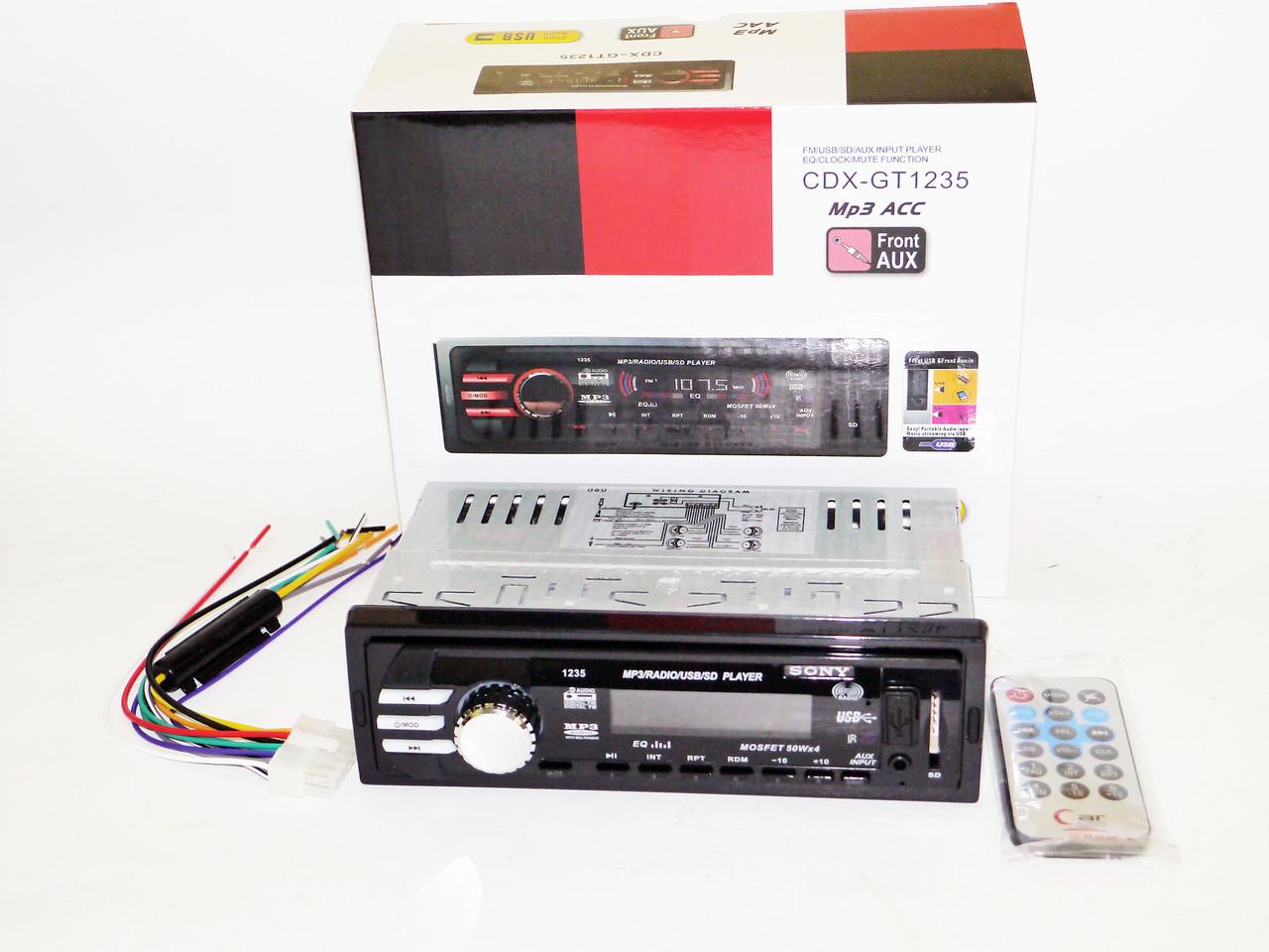 Автомагнитола Sony CDX-GT1235 USB+SD+FM+AUX+ пульт (4x50W)