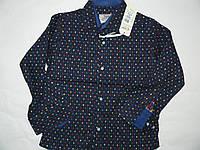 Рубашка приталенная для мальчиков  116-140