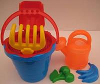 """Песочный набор для детей""""А"""" с лейкой25х17см."""