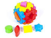 Детский логический куб-сортер,с геометрическими фигурами,в пакете,10х10см.
