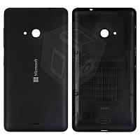 Задняя часть корпуса (крышка аккумулятора) для Microsoft (Nokia) Lumia 535, черный, оригинал