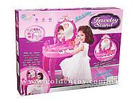 Детское трюмо+пианино для девочек №1122361,свет,звук,аксессуары,стульчик,в коробке,60х44х9см.