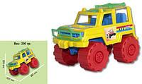 Детский джип цветной,4 цвета,в сетке,21х15х12см.