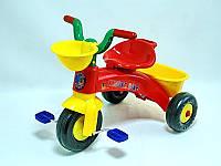 """Велосипед 3-х колёсный""""Киндер Байк""""КРАСНЫЙ,пластмасовый,в пакете,65х47х42см."""