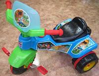 """Велосипед 3-х колёсный""""Спринт""""СИНИЙ,пластмасовый,в пакете,70х58х50см."""